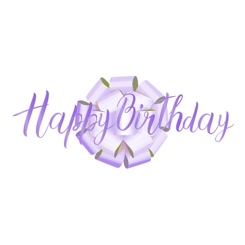 Happy Birthday. Beautiful greeting card, hand drawn invitation. Vector illustration vector illustration
