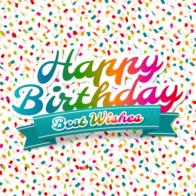 Happy birthday and best wishes greeting card stock vector download happy birthday and best wishes greeting card stock vector illustration of headline m4hsunfo