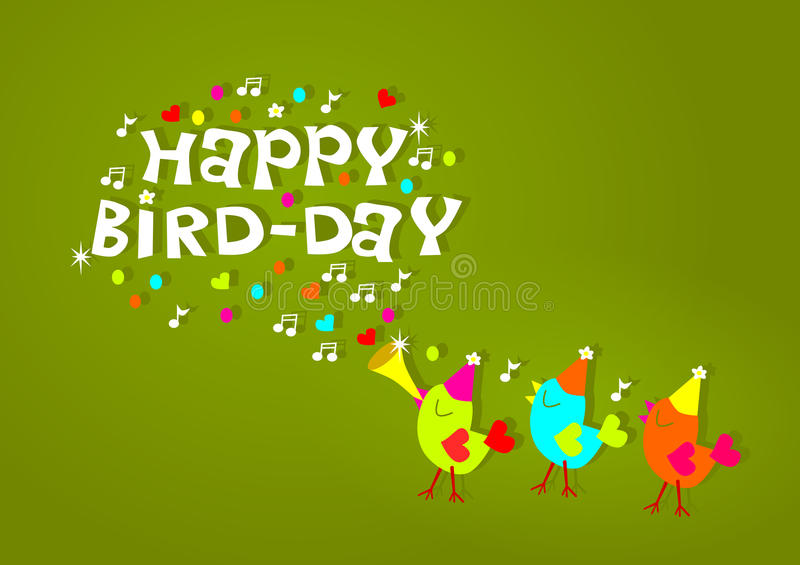 Happy birthday birds greeting card stock illustration illustration download happy birthday birds greeting card stock illustration illustration of celebration joke 48821418 m4hsunfo