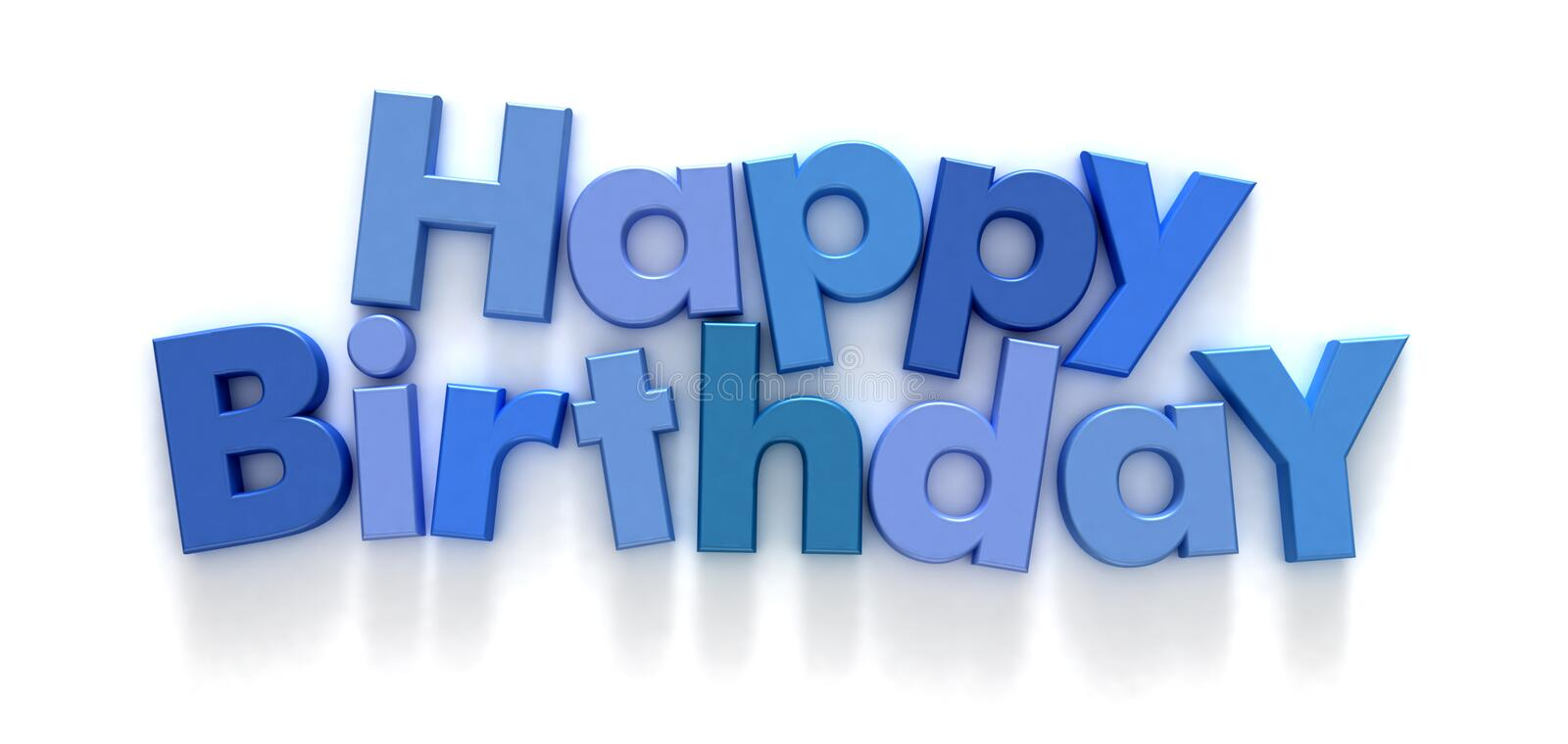 Happy Birthday in blue letters royalty free illustration
