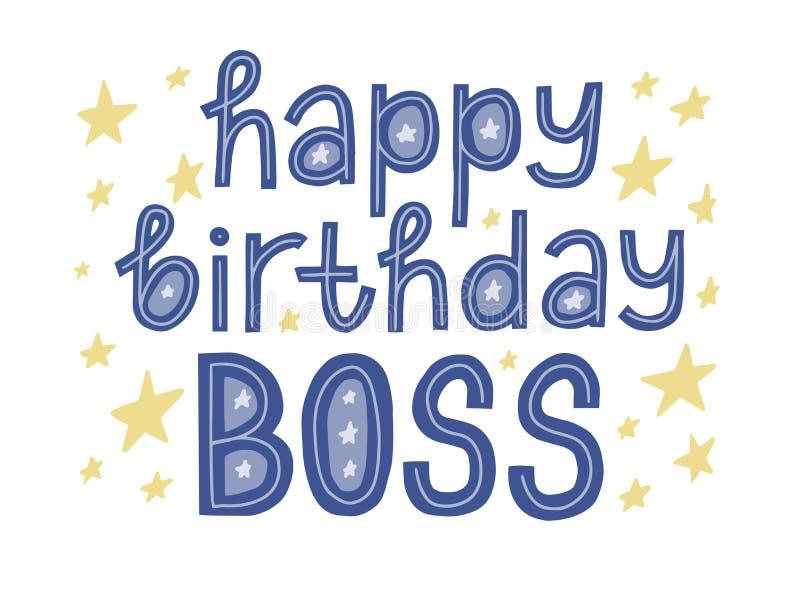 Superb Happy Birthday Boss Stock Illustrations 120 Happy Birthday Boss Personalised Birthday Cards Paralily Jamesorg