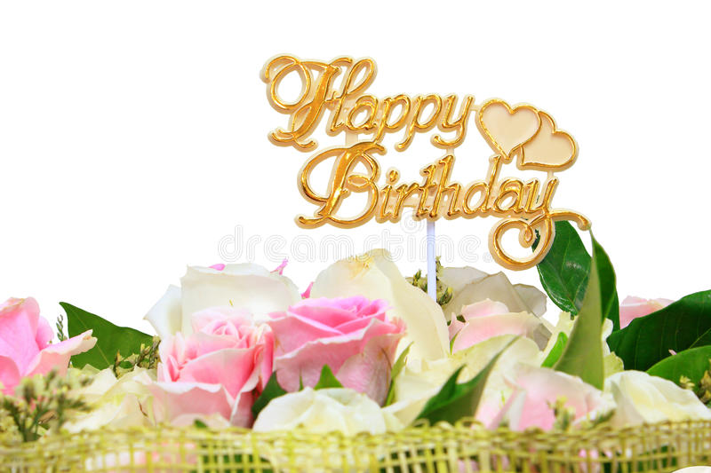 Happy Birthday, Bouquet Of Rose Flowers Stock Image - Image of ...