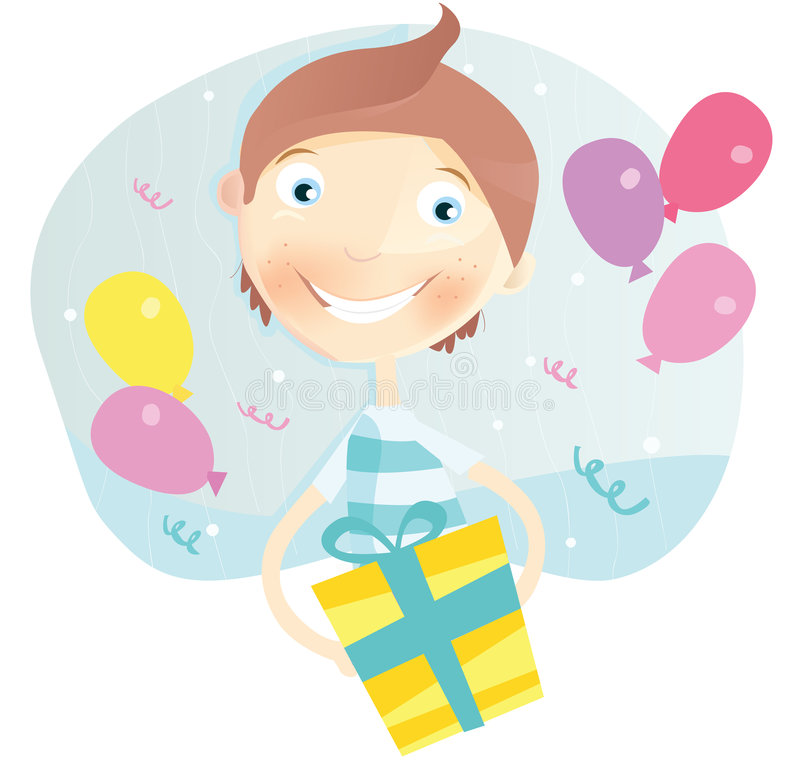Happy Birthday, boy! stock illustration
