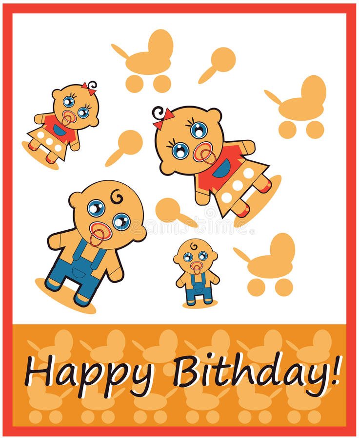 Download Happy Birthday Boy And Girl Stock Illustration - Image: 26716074
