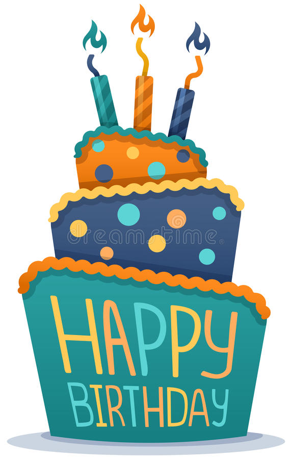 Free Happy Birthday Cake Stock Photo - 44614370