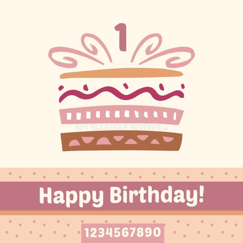 Free Happy Birthday Cake Stock Image - 58426791