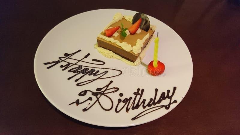 Happy birthday cake. Asia indonesia bali tasty sweet stock photos