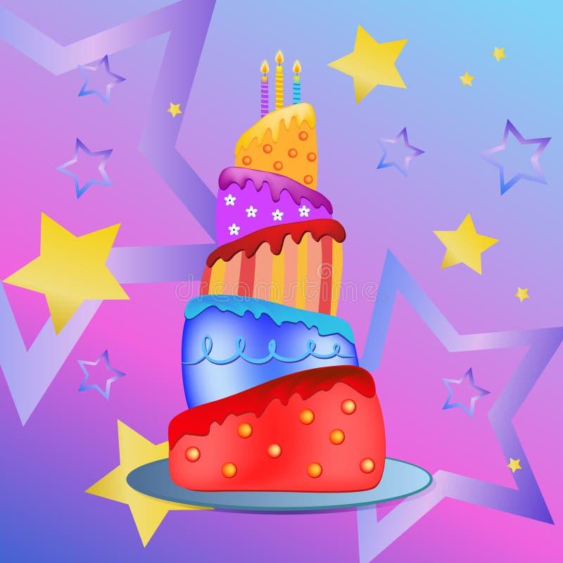 Happy birthday cake royalty free stock images