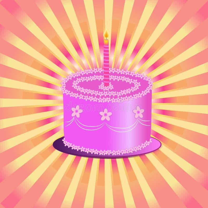 Happy birthday cake stock photography