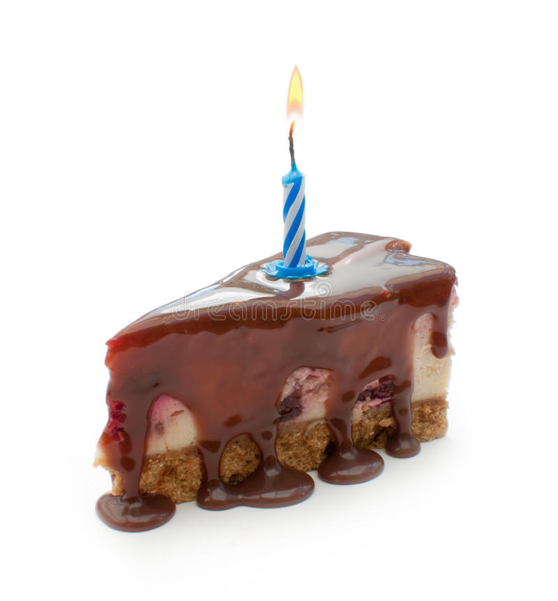 Happy Birthday Cake Slice Stock Photo Image Of Syrup 31710308