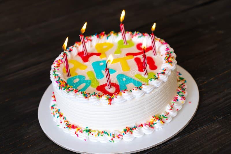happy birthday cake stock images