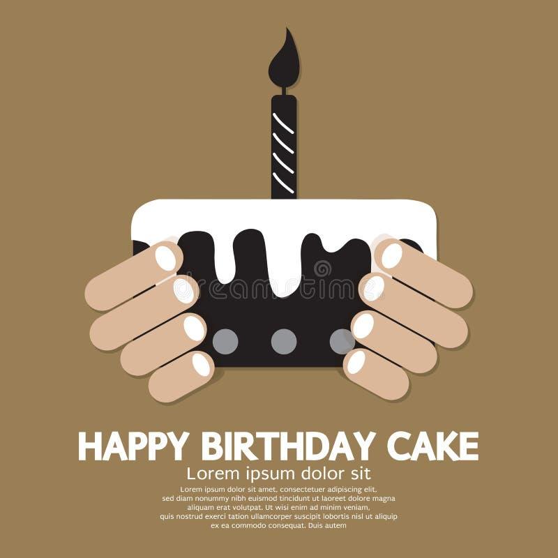 Happy Birthday Cake royalty free illustration