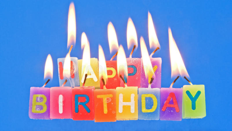 Download Happy Birthday With Candles Lighted. Stock Photo - Image of isolated, business: 22267178