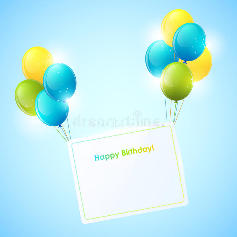 Download Happy Birthday card stock vector. Image of decorative - 25392423