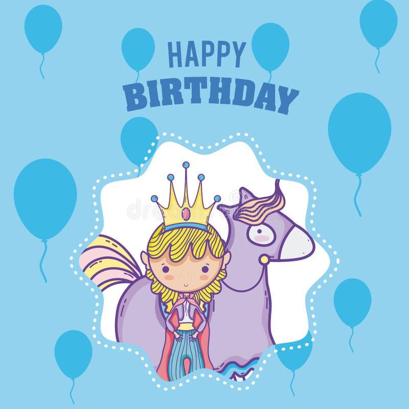 Happy Birthday Card For Boys Stock Vector Illustration Of Cute