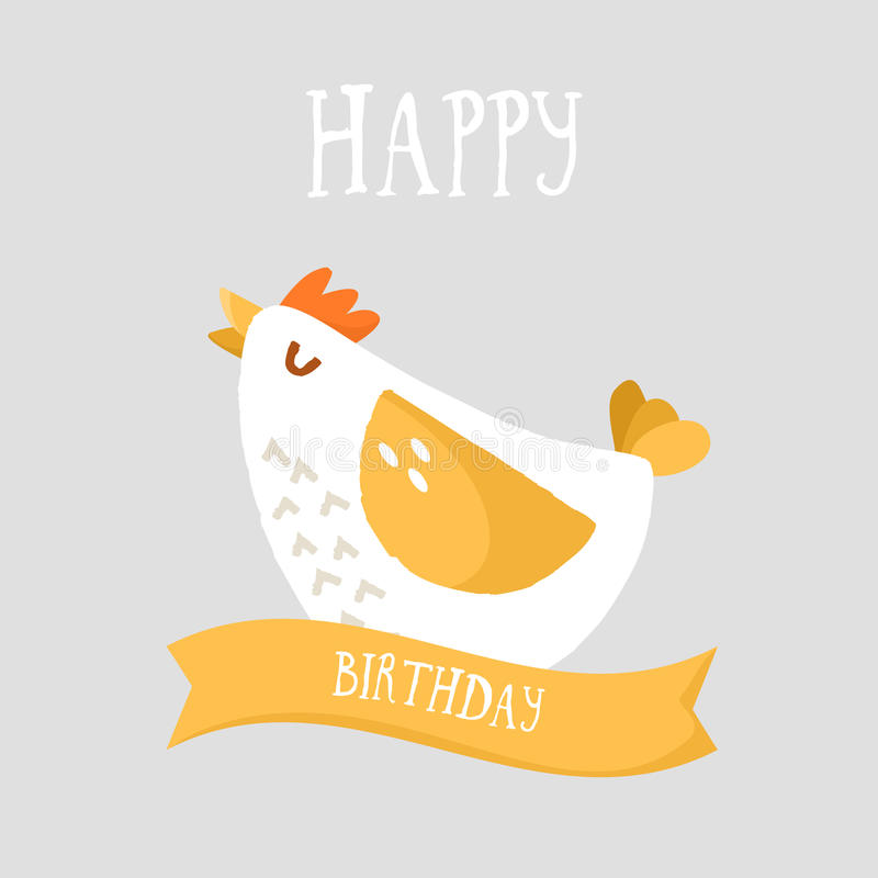 Happy birthday card with cartoon chicken and ribbon flat design download happy birthday card with cartoon chicken and ribbon flat design vector stock vector bookmarktalkfo Choice Image