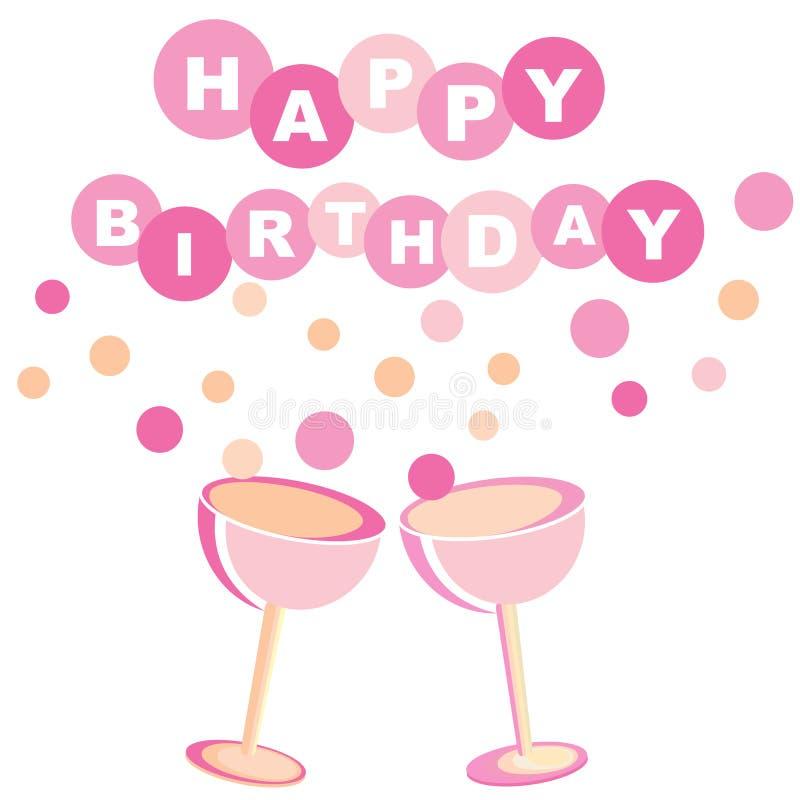 Happy Birthday Card Stock Vector Illustration Of Modern 34768694