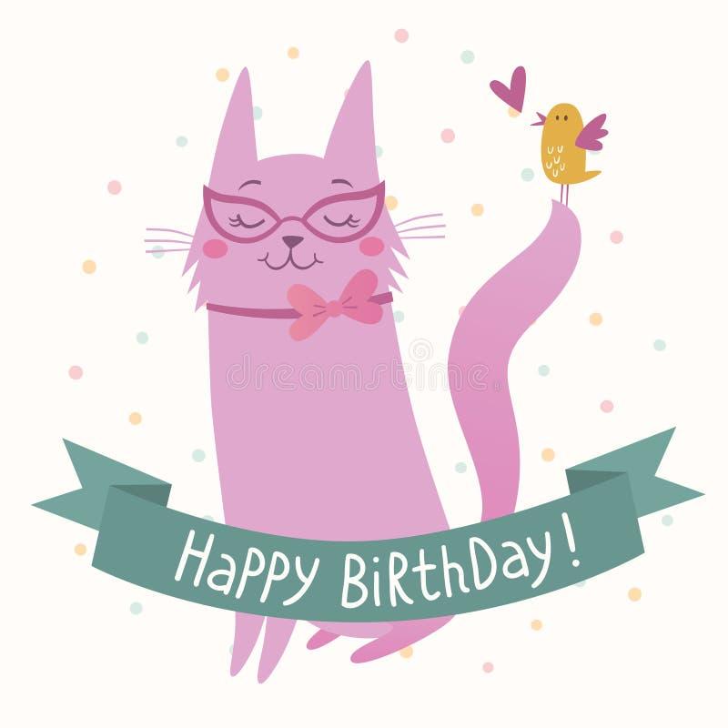 Happy Birthday card vector illustration
