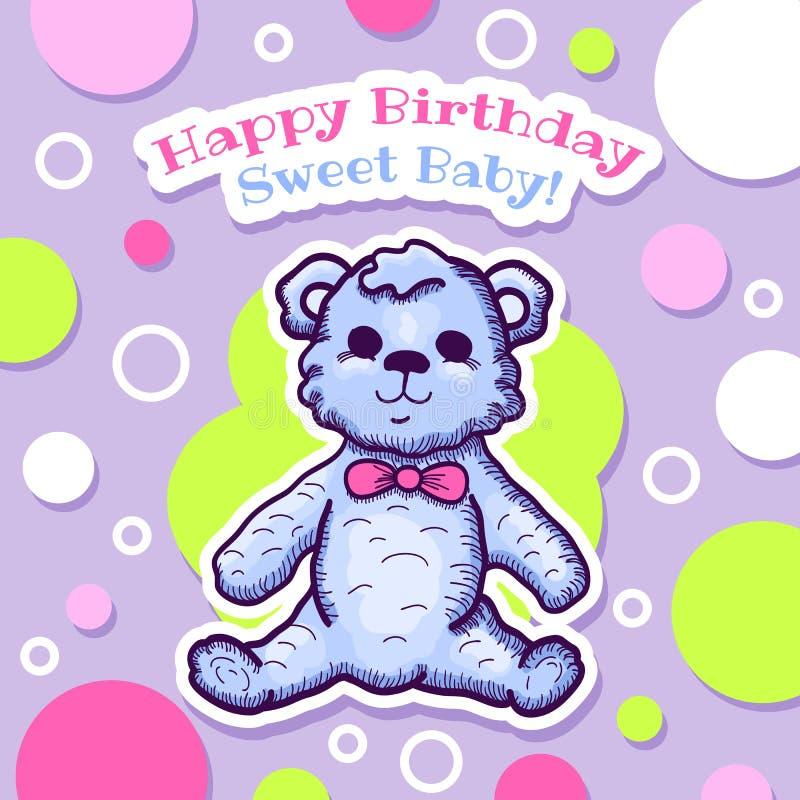 Happy Birthday Card Design Stock Vector Illustration Of Celebration