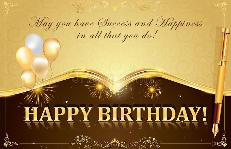 Happy Birthday Card Stock Illustration Illustration Of Birthday