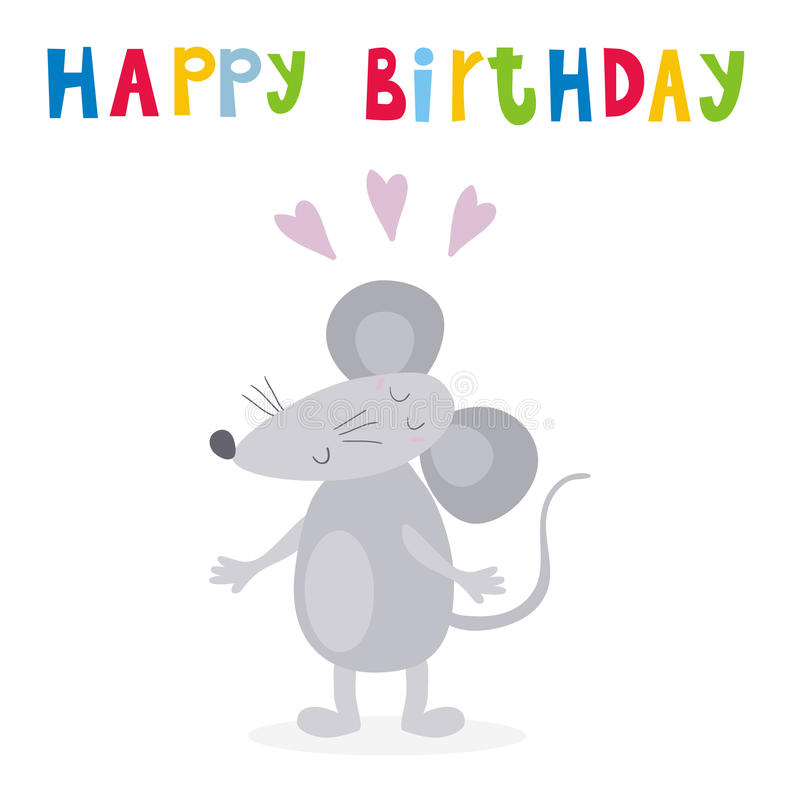 Happy birthday card with funny cute mouse cartoon style vector download happy birthday card with funny cute mouse cartoon style vector print stock vector bookmarktalkfo Gallery