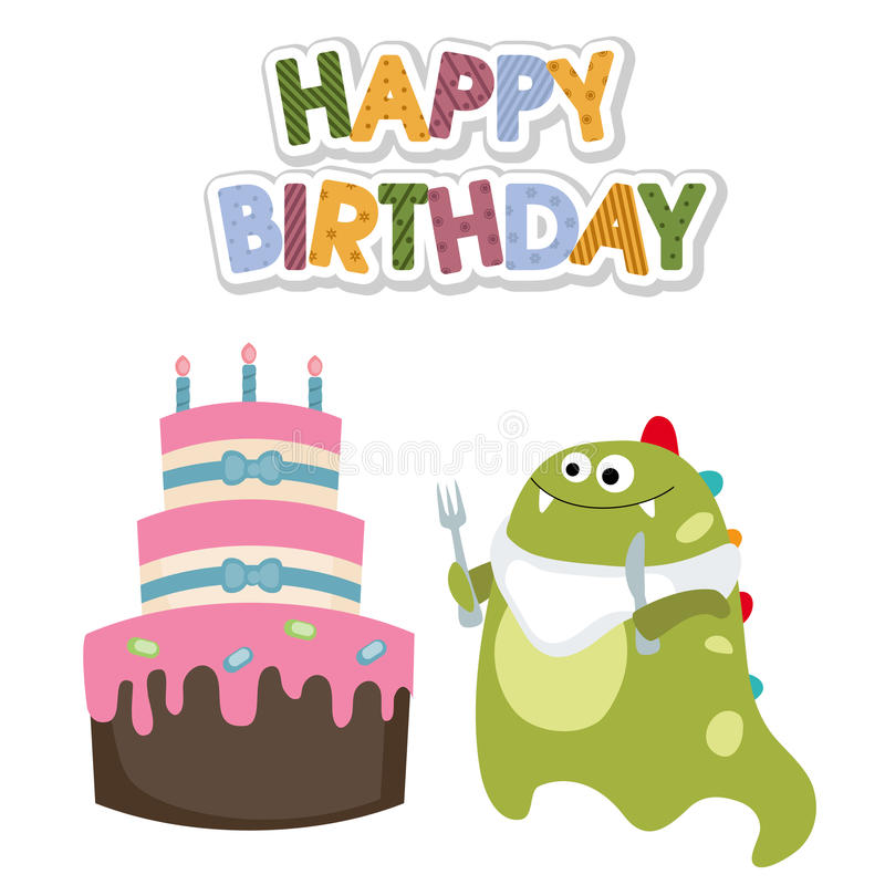 Happy Birthday Card Stock Vector Illustration Of Comic 78986994