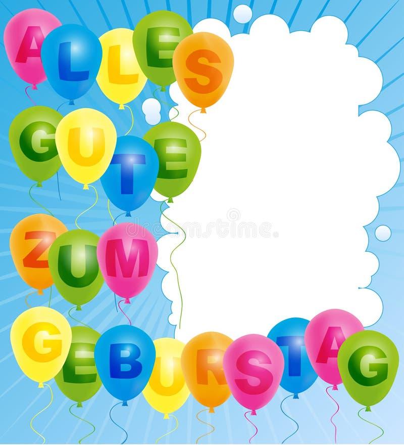 Happy Birthday Card - German royalty free illustration