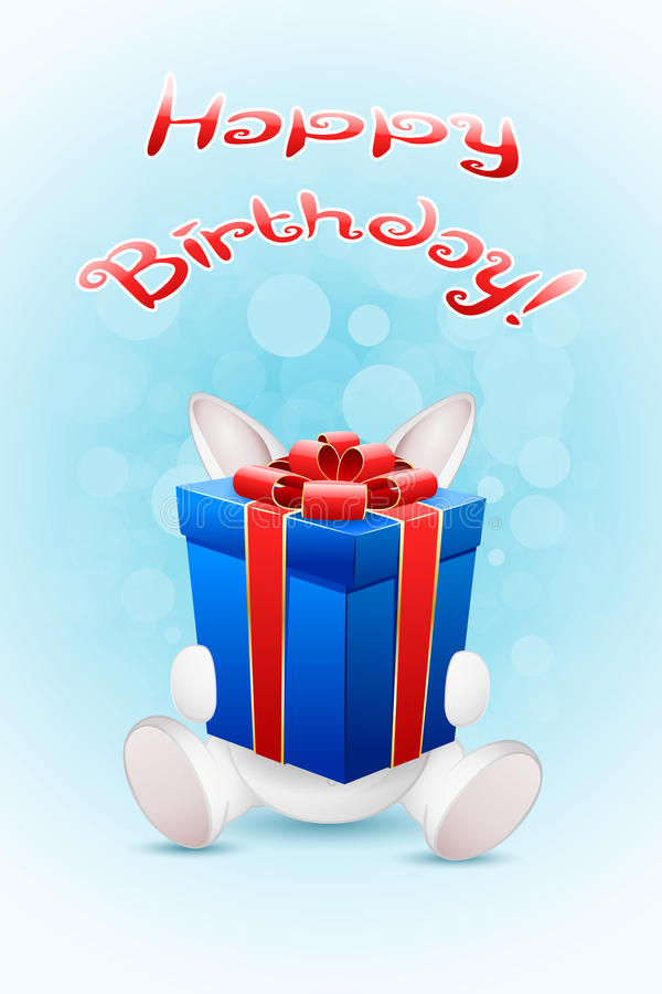 Download Happy Birthday Card With Gift Stock Vector - Image: 40383773