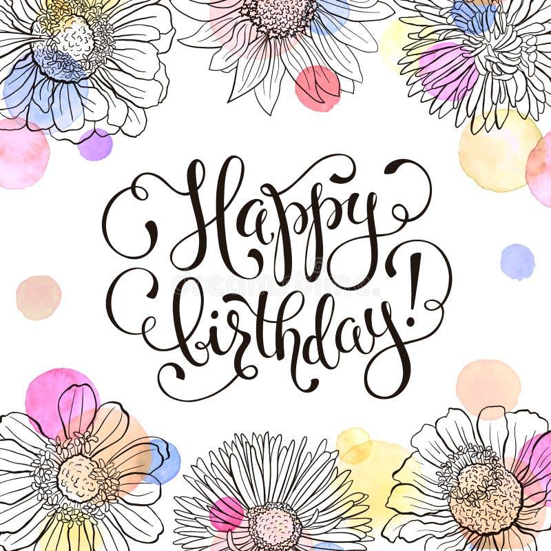 Happy Birthday Card Stock Vector. Illustration Of