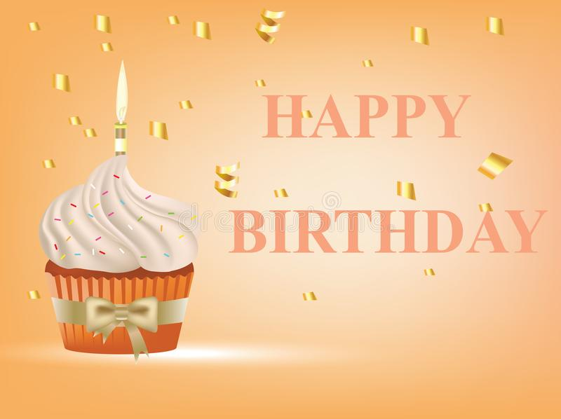 Happy birthday card stock illustration