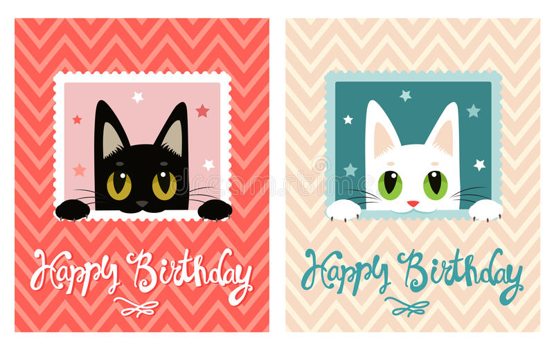 Happy birthday card happy birthday card with cute cat greeting download happy birthday card happy birthday card with cute cat greeting card stock bookmarktalkfo Images