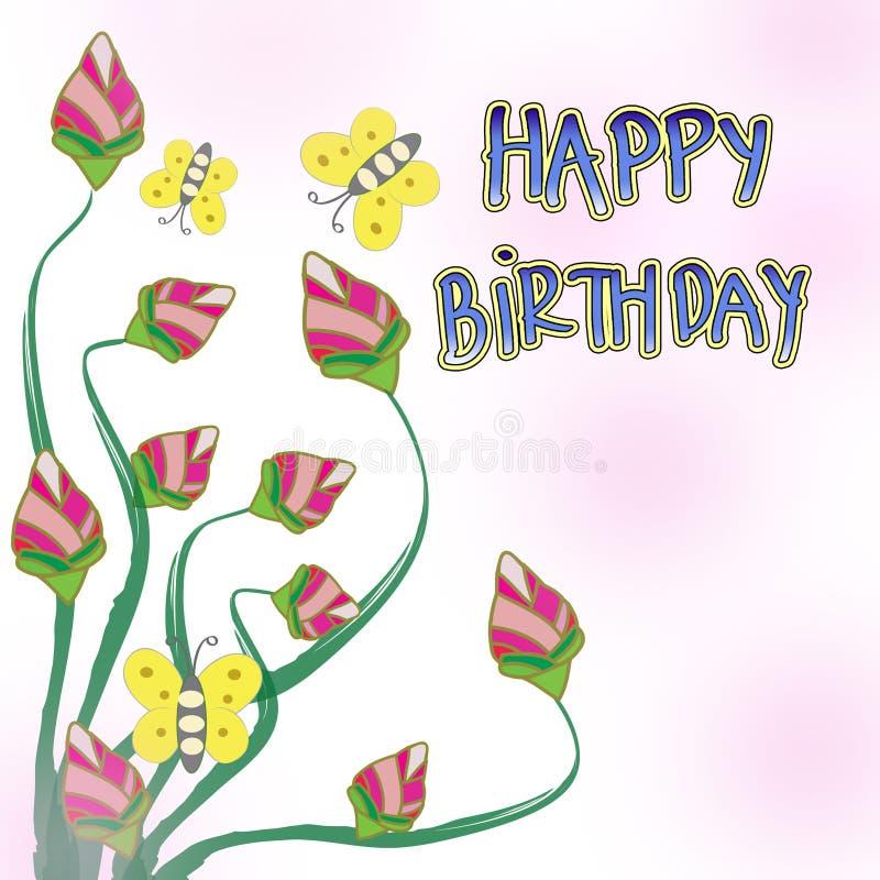 Happy Birthday Card Stock Illustration Illustration Of Decoration