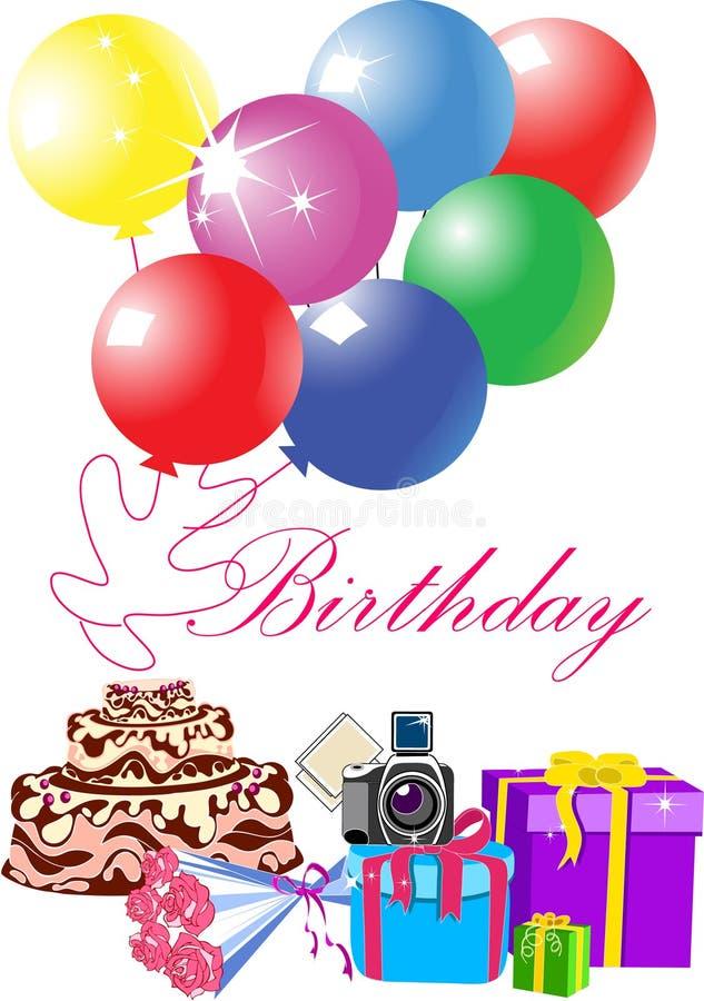 Happy birthday card stock vector Illustration of element 37790879
