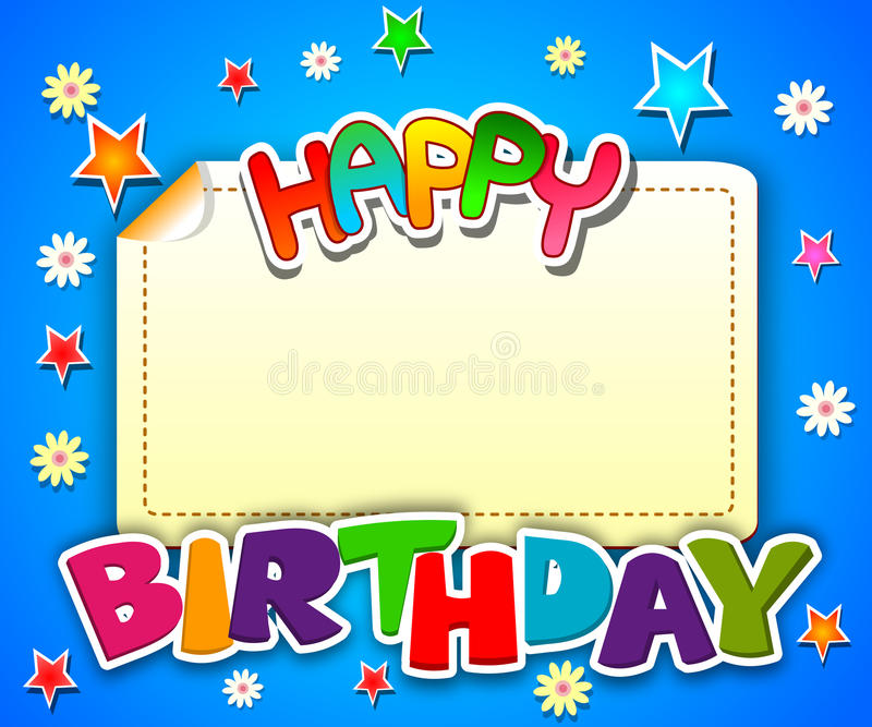 Happy birthday card royalty free illustration