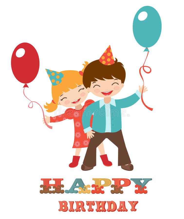 Happy Birthday Card With Kids Vector Image 28839197 – Happy Birthday Card for Kids