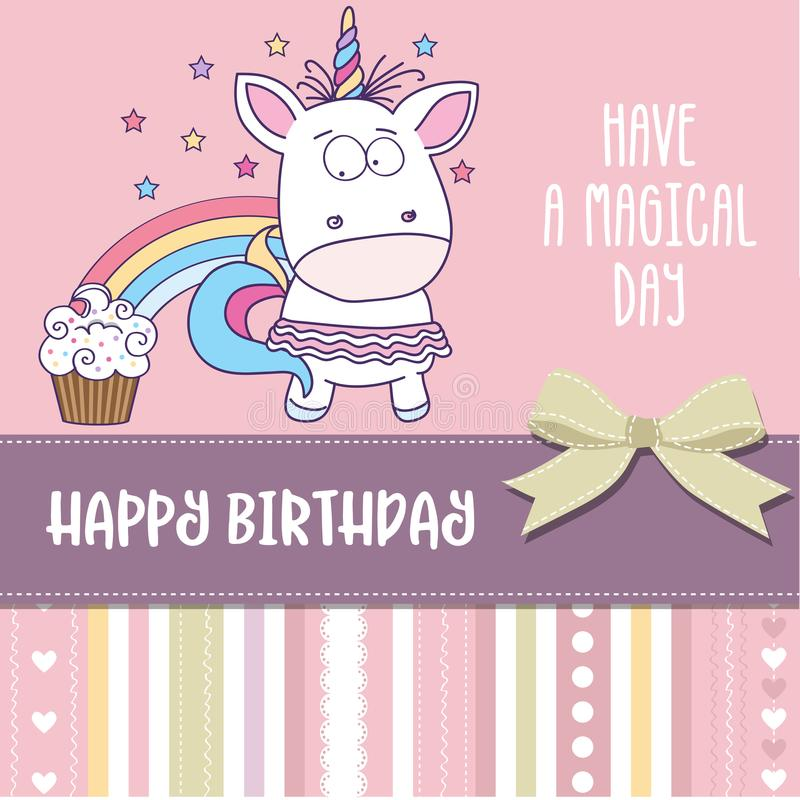 Happy birthday card with lovely baby girl unicorn stock vector download happy birthday card with lovely baby girl unicorn stock vector illustration of emotional bookmarktalkfo Choice Image