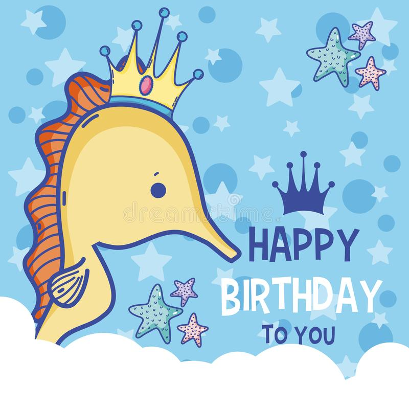 Happy Birthday Card Cute Cartoons Stock Vector Illustration Of