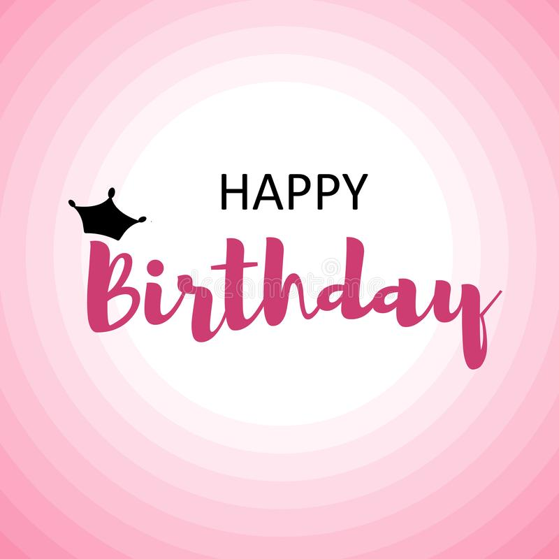 Happy birthday card for men on pink circles royalty free illustration