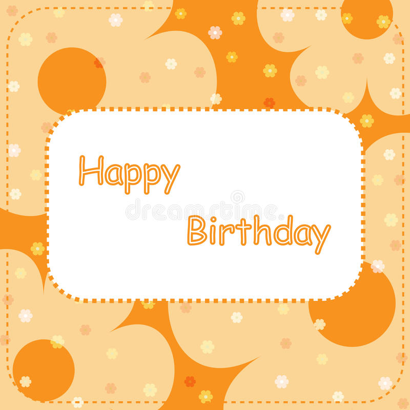Download Happy Birthday Card - Orange Royalty Free Stock Photos - Image: 12317658