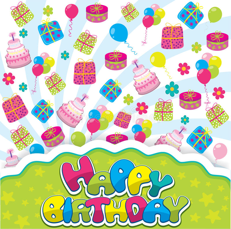 Download Happy birthday stock vector. Image of birthday, celebration - 34183288