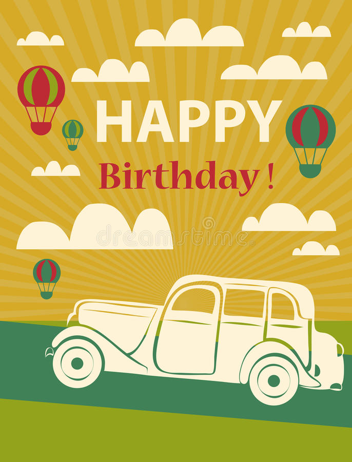 Download Happy Birthday Card Stock Vector Illustration Of Aircraft