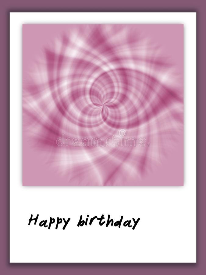 Happy Birthday Card In Scrapbook Style Stock Illustration