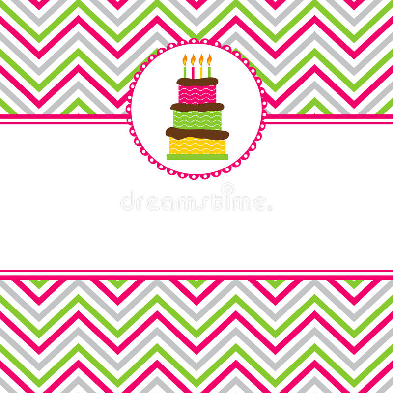 Download Happy Birthday Card Stock Vector. Illustration Of Card   41928564