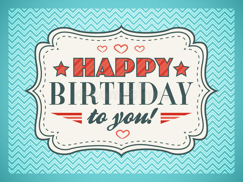 Happy Birthday Card Typography Letters Font Type Stock Vector