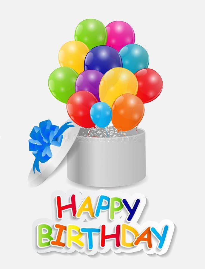 Free Happy Birthday Card Vector Illustration Royalty Free Stock Photography - 40976577