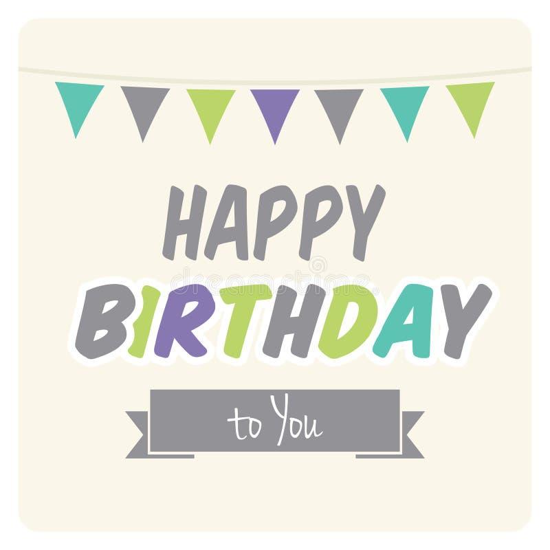 Happy birthday card. Vector illustration of the Happy birthday card stock illustration