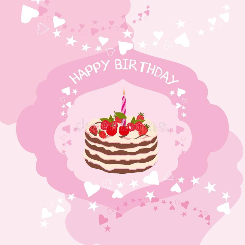 Happy Birthday card vector set vector illustration