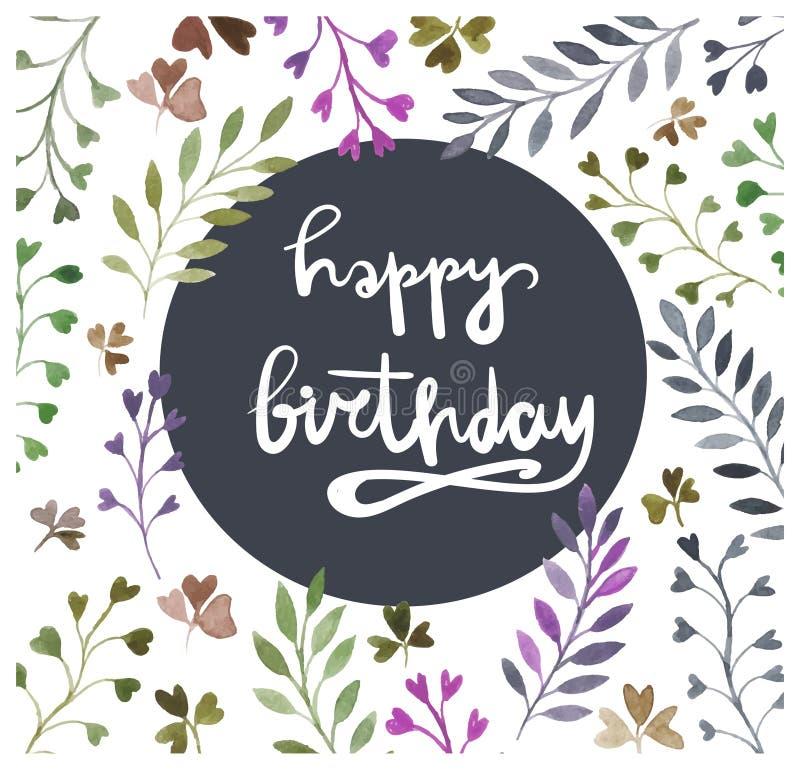 Happy birthday card watercolor painting hand lettering download happy birthday card watercolor painting hand lettering watercolor floral elements stock bookmarktalkfo Gallery