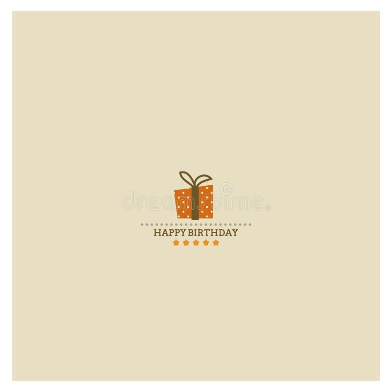 Free Happy Birthday Card With Holiday Polka Dot Gift Bo Royalty Free Stock Images - 32967969