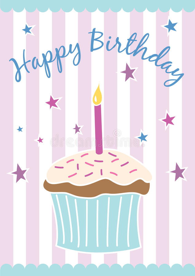 Free Happy Birthday Card &x28;vector&x29; Stock Images - 20789644